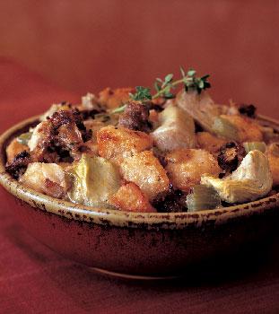 Artichoke, Sausage, and Parmesan Cheese Stuffing