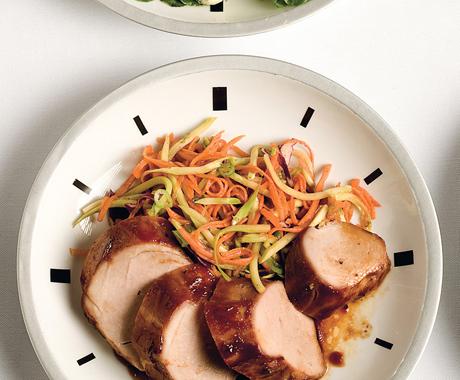 Hoisin Pork Tenderloin with Asian Carrot Salad