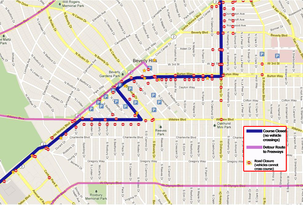 Street Closures  LA Marathon
