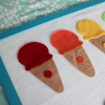DIY Felt Board {and an Ice Cream Colour Matching Game}