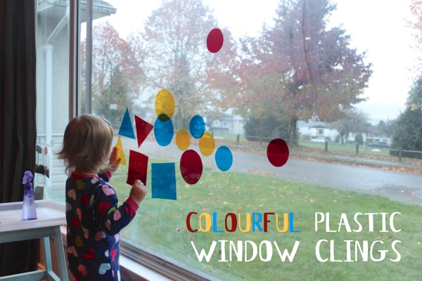 Colourful Plastic Window Clings
