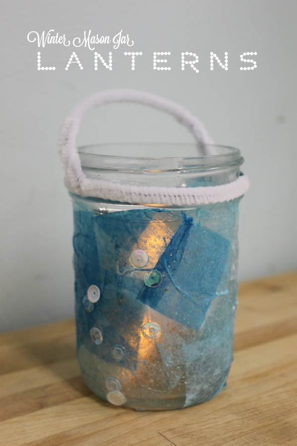 Winter Mason Jar Lanterns
