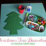 Christmas Tree Decorating Creative Table