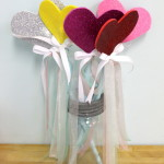 Sparkly Heart-Shaped Wands
