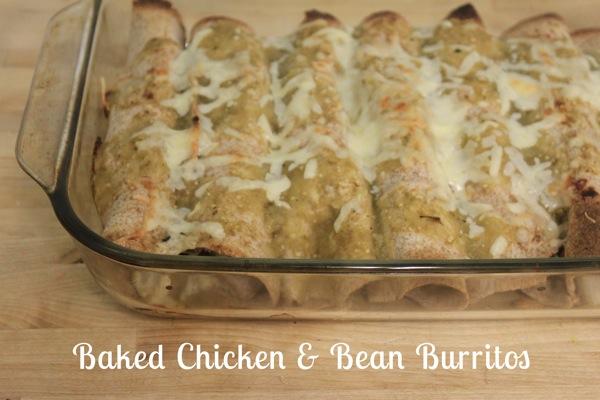 Baked Chicken  Bean Burritos