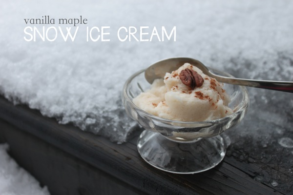 Vanilla Maple Snow Ice Cream