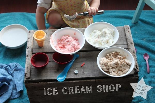 Ice Cream Shop with Ice Cream Dough