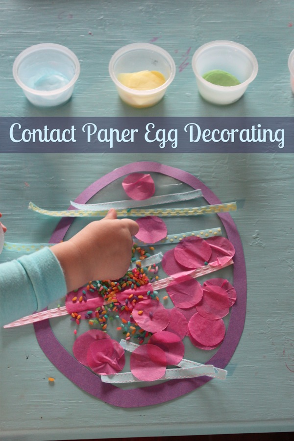 Contact Paper Egg Decorating