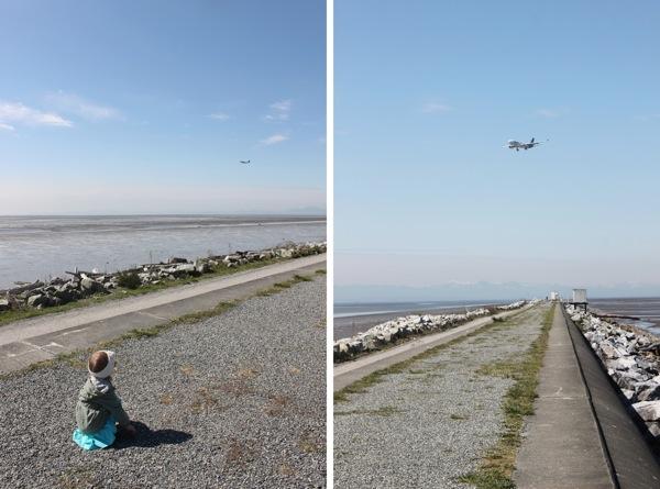 Plane Watching at Iona Beach