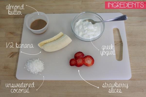 Breakfast Banana Split Ingridents | Mama Papa Bubba