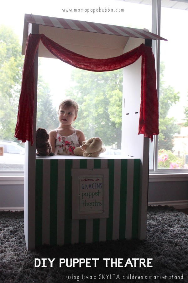 DIY Puppet Theatre Using Ikea s SKYLTA Children s Market Stand | Mama Papa Bubba