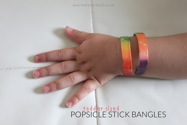 Toddler sized Popsicle Stick Bangles | Mama Papa Bubba