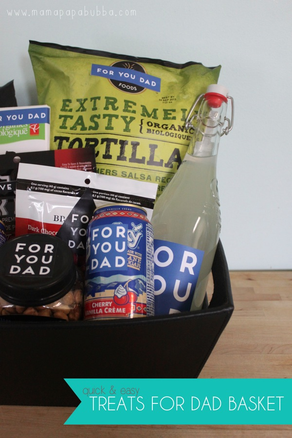 Father s Day Gift  A Quick  Easy Treats for Dad Basket   Mama Papa Bubba
