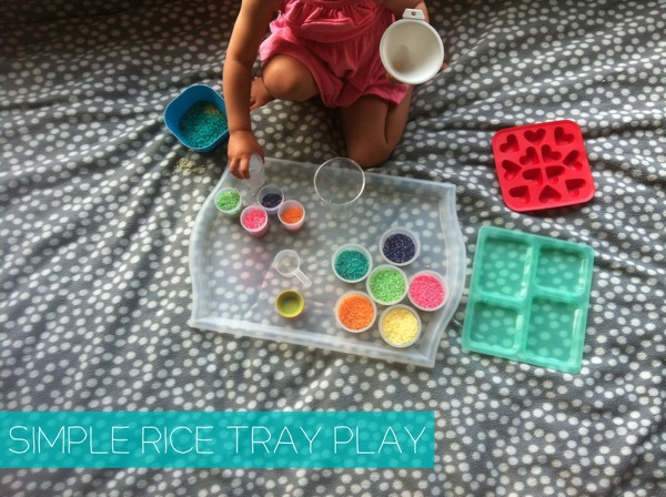 Simple Rice Tray Play | Mama Papa Bubba