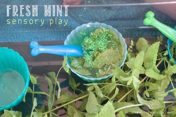 Fresh Mint Sensory Play | Mama Papa Bubba