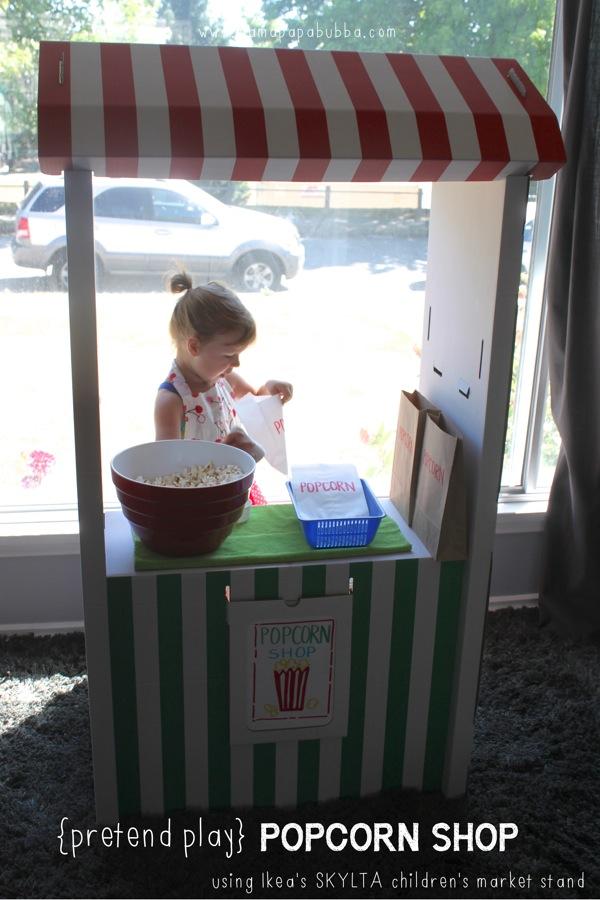 Pretend Play Popcorn Shop | Mama Papa Bubba
