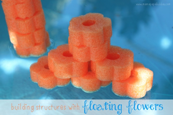 Building Structures With Floating Flowers | Mama Papa Bubba
