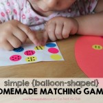 Simple {balloon-shaped} Homemade Matching Games
