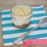 Healthier Mini Mason Jar {Birthday} Cheesecakes