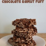 Healthier Chocolatey {Kamut} Puff Squares