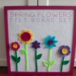 Spring Flowers Felt Board Set