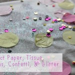 Contact Paper, Tissue, Sequins, Confetti, & Glitter: A Creative Table