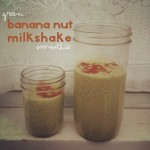 {Green} Banana Nut Milkshake Smoothie