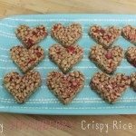 {Heart-Shaped} Strawberry Crispy Rice Treats