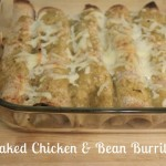 Baked Chicken & Bean Burritos
