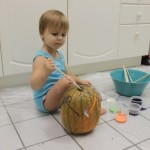 Painted Polka-Dotted Pumpkin