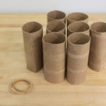 Heart Stamping with Paper Rolls
