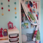 Nursery Closet: Storage Space Turned Cozy Book Nook
