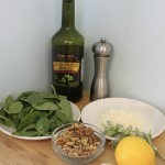Homemade Spinach Walnut Asiago Pesto