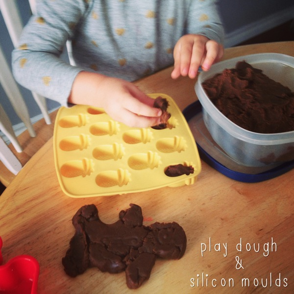 Play dough and silicon moulds