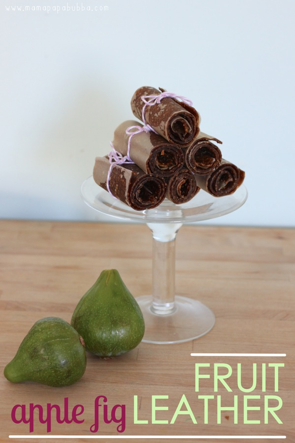 Apple Fig Fruit Leather | Mama Papa Bubba