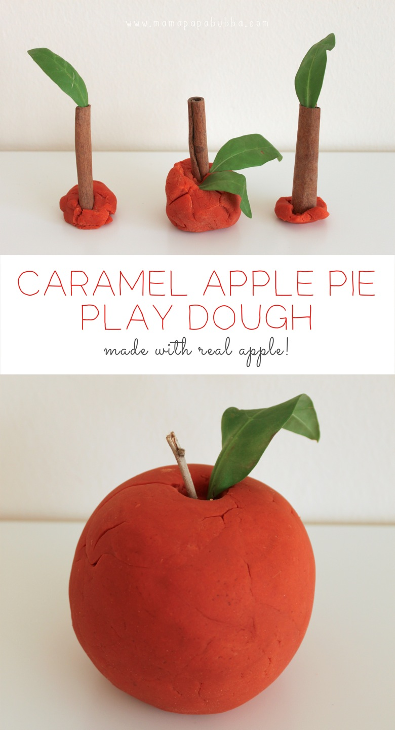 Caramel Apple Pie Play Dough  made with real apple | Mama Papa Bubba