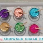 SPARKLY Sidewalk Chalk Paint
