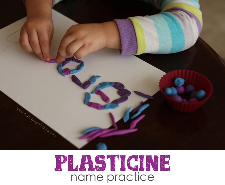 Plasticine Name Practice | Mama Papa Bubba