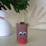 Paper Roll Handprint Reindeer
