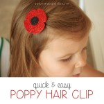 {Quick & Easy} Poppy Hair Clip