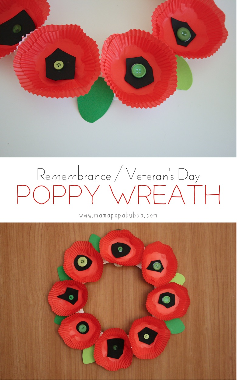 Remembrance  Veteran s Day Poppy Wreath | Mama Papa Bubba