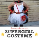 Homemade No Sew Supergirl Costume
