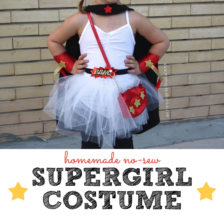 Homemade No Sew Supergirl Costume Mamapabubba