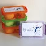 Build A Snowman Play Dough Kits