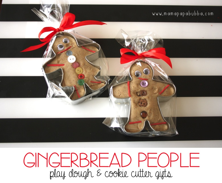 Gingerbread People Play Dough  Cookie Cutter Gifts | Mama Papa Bubba