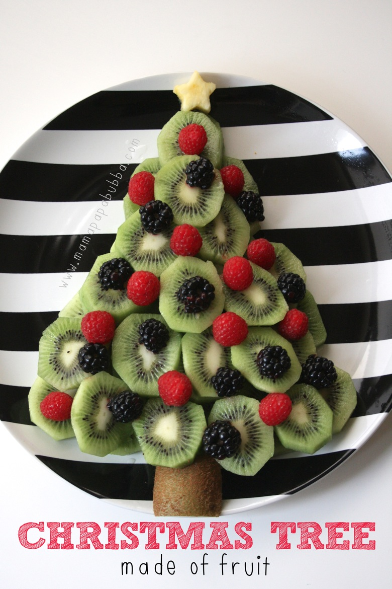 Christmas Tree Made of Fruit | Mama Papa Bubba