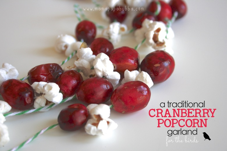 Cranberry Popcorn Garland  for the birds | Mama Papa Bubba
