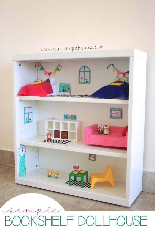 Design Make Your Own Dollhouse a bookshelf dollhouse for miss g mama papa bubba simple bubba
