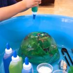 Frozen Ocean Animal Rescue {salt, water, & ice play}
