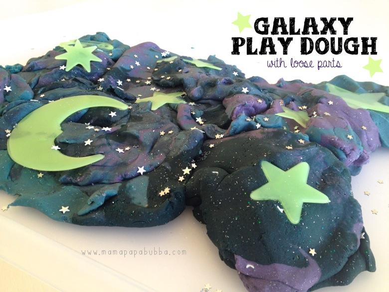 Galaxy Play Dough With Loose Parts | Mama Papa Bubba